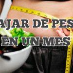 bajar de peso en un mes