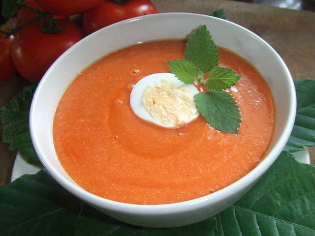Foto: Puré frio de zanahoria
