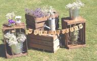 Decoración con cajas para bodas